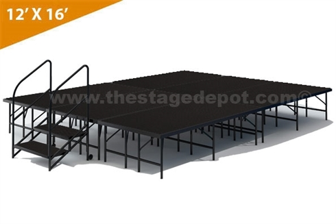 "12' x 16' - 24"" Single Height Stage Kit ( Poly Finish )"