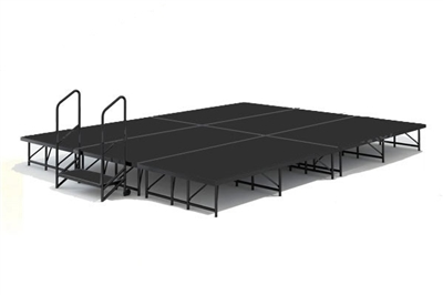 "12' x 16' - 8"" Economy Executive Portable Stage Kit (Poly Finish)"