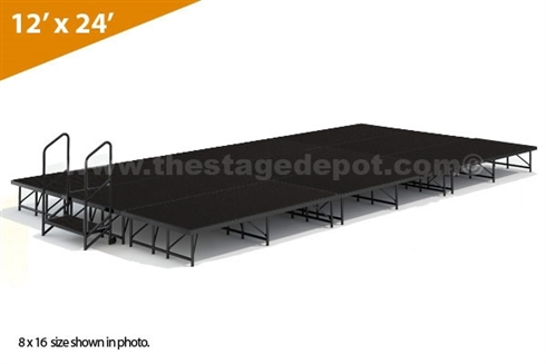 "12' x 24' - 16"" Single Height Stage Kit ( Poly Finish )"