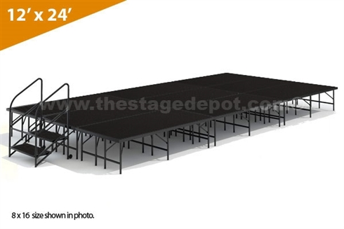 "12' x 24' - 24"" Single Height Stage Kit ( Poly Finish )"