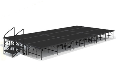 "12' x 24' - 8"" Economy Executive Stage Kit ( Poly Finish )"