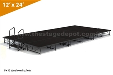"12' x 24' - 8"" Single Height Stage Kit ( Poly Finish )"