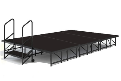 "12' x 8' - 8""  Economy Executive Portable Stage Kit (Poly Finish)"