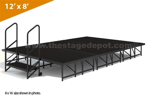 "12' x 8' - 8""  Single Height Stage Kit ( Poly Finish )"