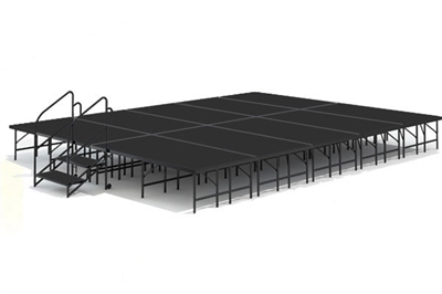 "16' x 20' - 24"" Economy Executive Stage Kit ( Poly Finish )"