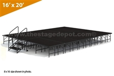 "16' x 20' - 24"" Single Height Stage Kit ( Poly Finish )"
