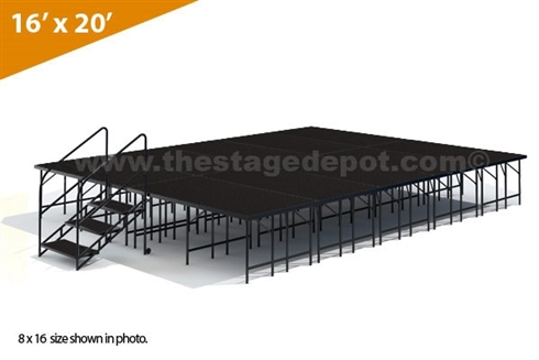 "16' x 20' - 32"" Single Height Stage Kit ( Poly Finish )"