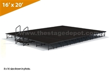 "16' x 20' - 8"" Single Height Stage Kit ( Poly Finish )"