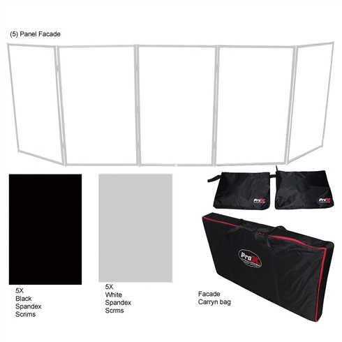 ProX 5 Panel Quick-Release Silver Frame Facade Package w/ Carry Bags