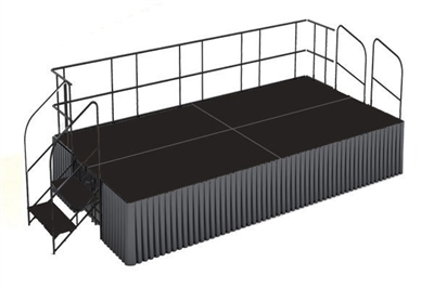 Poly finished 8' x 16' Executive Portable Stage Kits