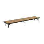 "1 Level Straight Riser with Hardboard Finish 18""Wx96""Lx8""H"