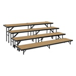 "288 Square Foot ( 12 Ft X 24 Ft) Guardrail Stage Kit With Steps And Stage Skirt – 24"" High"
