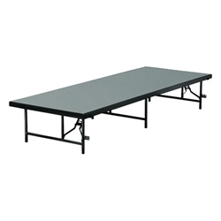 Mobile Folding 8' X 3' Stage Section (In Polypropylene Finish)