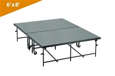 Mobile Folding Stages 6' X 8' Moblie Stage Section (In Polypropylene Finish)