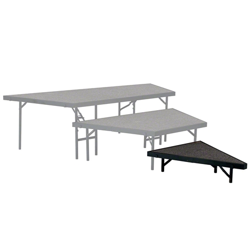 "National Public Seating Seated Riser Stage Pie Tier, 8"" Tall (36"" Deep)"