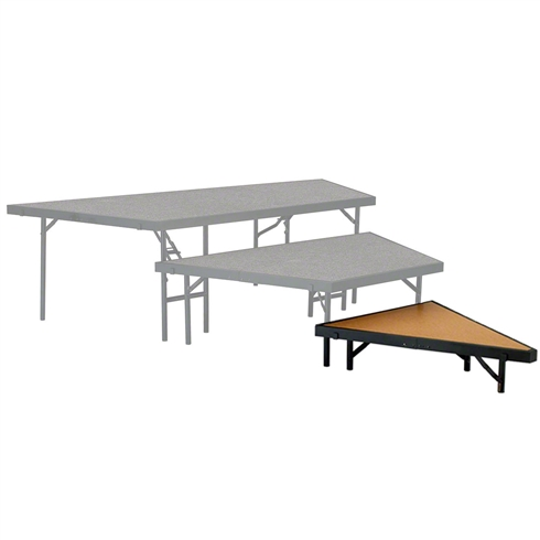 "National Public Seating Seated Riser Stage Pie Tier, 8"" Tall (36"" Deep), Hardboard Surface"