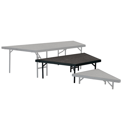 "National Public Seating Seated Riser Stage Pie Tier, 16"" Tall (48"" Deep)"