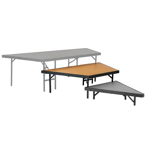 "National Public Seating Seated Riser Stage Pie Tier, 16"" Tall (48"" Deep), Hardboard Surface"