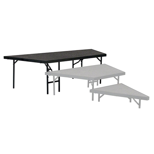 "National Public Seating Seated Riser Stage Pie Tier, 24"" Tall (48"" Deep)"