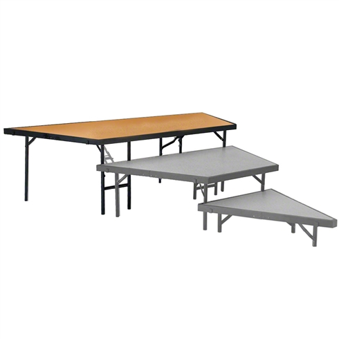 "National Public Seating Seated Riser Stage Pie Tier, 24"" Tall (48"" Deep), Hardboard Surface"