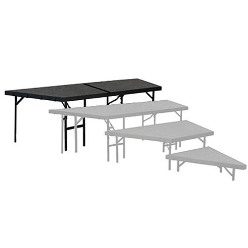 "National Public Seating Seated Riser Stage Pie Tier, 32"" Tall (48"" Deep)"