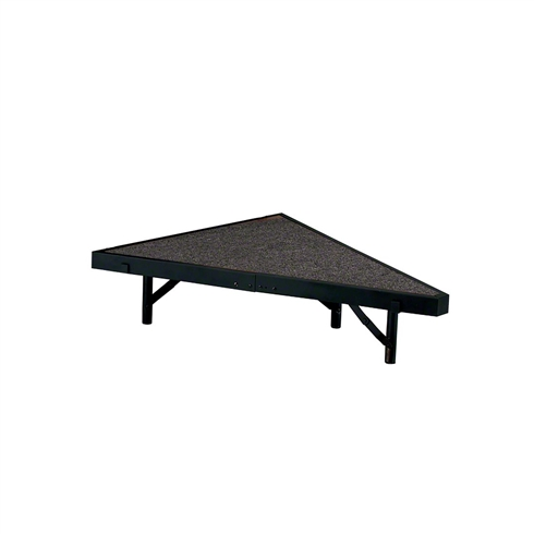 "National Public Seating Seated Riser Stage Pie Tier, 8"" Tall (48"" Deep)"