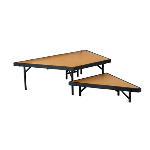 "National Public Seating 2-Tier Seated Riser Stage Pie Section, Hardboard (36"" Deep Tiers)"