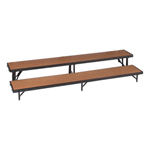 2 level Straight Standing Choral Risers(Hardboard finish)