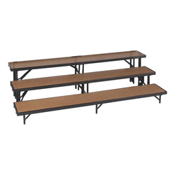 3 level Straight Standing Choral Risers(Hardboard finish)