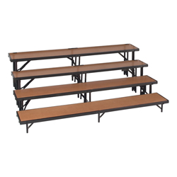 4 level Straight Standing Choral Risers(Hardboard finish)