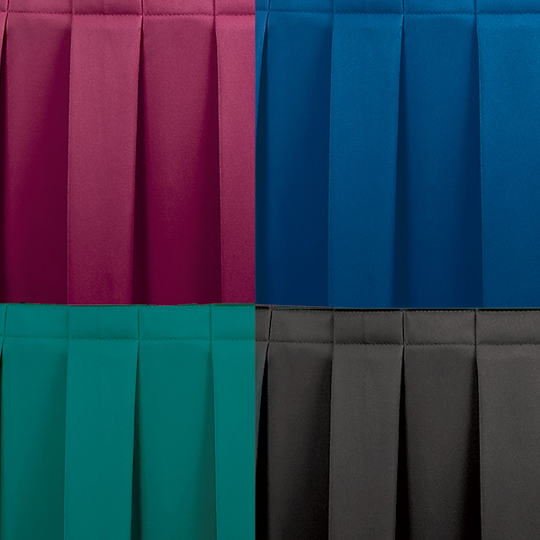 Folding Stages Box Pleated Stage Skirt For Regular Stages