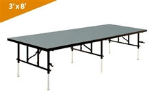 Folding Stages Transfold Stage/Seated Riser 3' x 8' (Polypropylene Finish)