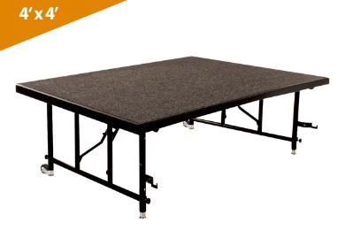 Folding Stages Transfold Stage/Seated Riser 4' x 4' (Carpet Finish)