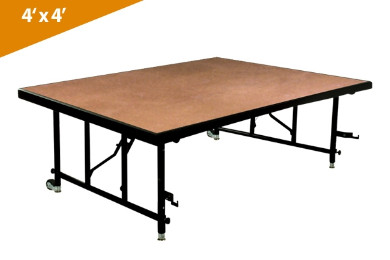 Folding Stages Transfold Stage/Seated Riser 4' x 4' (Hardboard Finish)