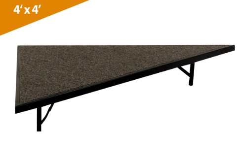 Folding Stages Triangle Transfold Stage/Seated Riser 4' x 4' (Carpet Finish)