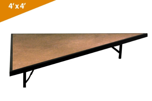 Folding Stages Triangle Transfold Stage/Seated Riser 4' x 4' (Hardboard Finish)