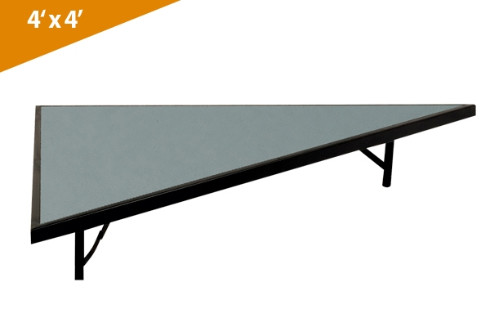 Folding Stages Triangle Transfold Stage/Seated Riser 4' x 4' (Polypropylene Finish)