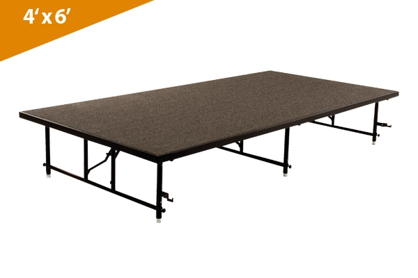 folding stages transfold stage seated riser 4 x 6 carpet finish