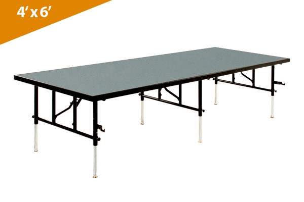 folding stages transfold stage seated riser 4 x 6 polypropylene