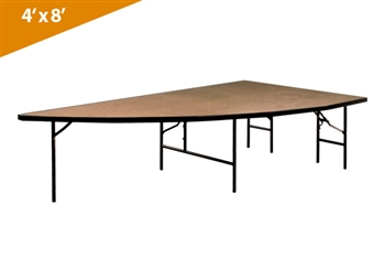 Left Arc 4'x8' Transfold Folding Stages Stage/Riser Section (Hardboard Finish)