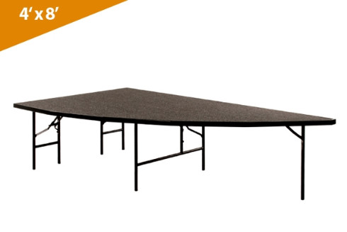Right Arc 4'x8' Transfold Folding Stages Stage/Riser Section (Carpet Finish)