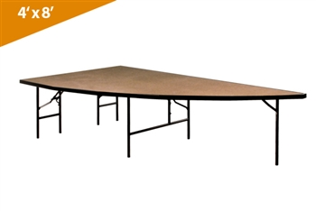 Right Arc 4'x8' Transfold Folding Stages Stage/Riser Section (Hardboard Finish)
