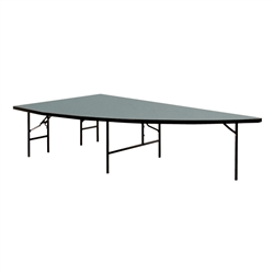 Right Arc 4'x8' Tranfold Folding Stages Stage/Riser Section (Polypropylene Finish)