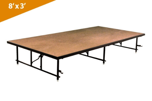 Folding Stages Transfold Stage/Seated Riser 8' x 3' (Hardboard Finish)