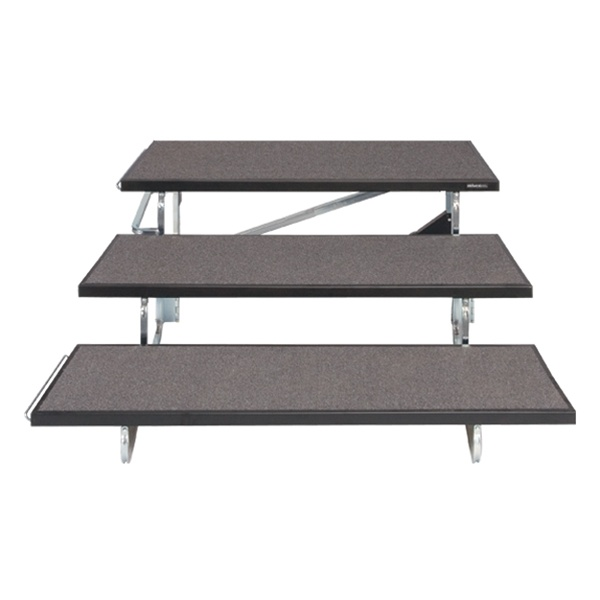 Tapered Standing Choral Riser Carpet Finish Available In 3 Height Choices