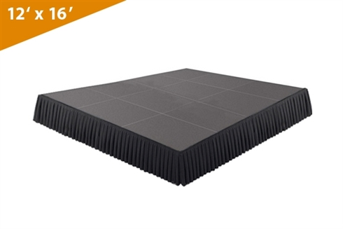 192 SQ. FT STAGE SYSTEM W/ SKIRTING  - 12 FT X 16 FT X 8""