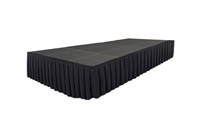 288 SQ. FT STAGE SYSTEM W/ SKIRTING - 12 FT X 24 FT X 32""