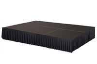 96 SQ. FT STAGE SYSTEM W/ SKIRTING - 12 FT X 8 FT X 16""