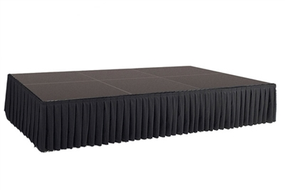 96 SQ. FT STAGE SYSTEM W/ SKIRTING - 12 FT X 8 FT X 24""