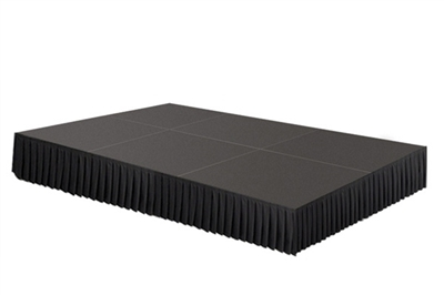 96 SQ. FT STAGE SYSTEM W/ SKIRTING - 12 FT X 8 FT X 8""